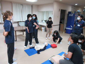 7.22 新入職員CPR研修b